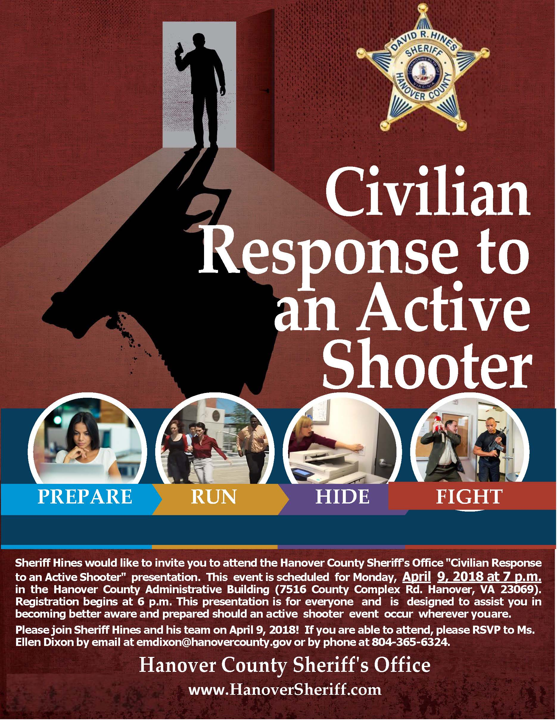 Flyer_Civilian Response to AnActiveShooter April 9 18